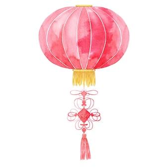 Lanterna cinese con nodo della fortuna