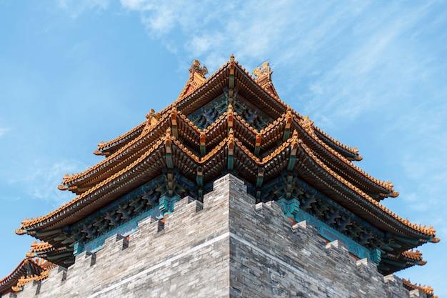 Palazzo cinese bellissimo vecchio tetto di design