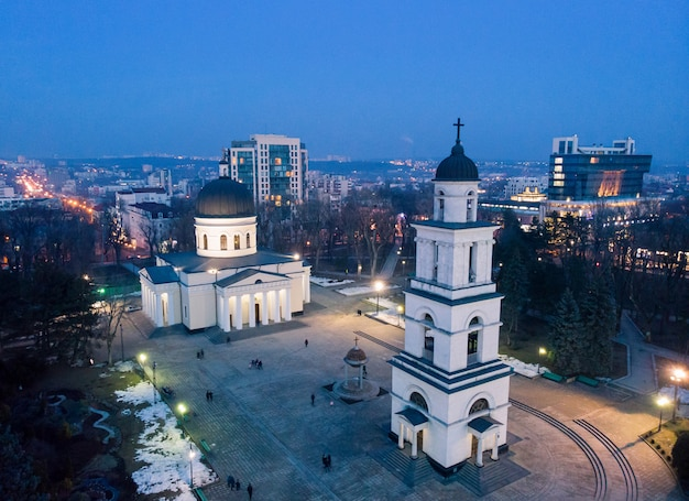 Centro città di chisinau di notte