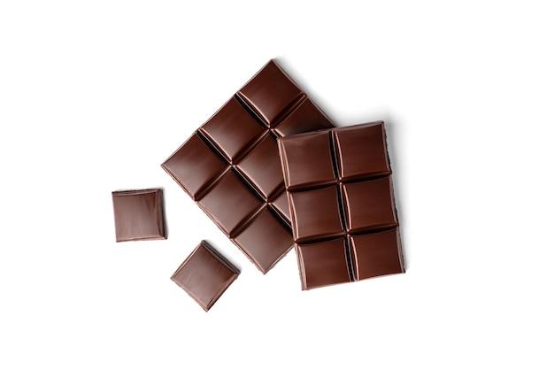 Barretta di cioccolato isolato su uno sfondo bianco
