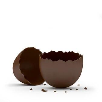 Uovo rotto al cioccolato