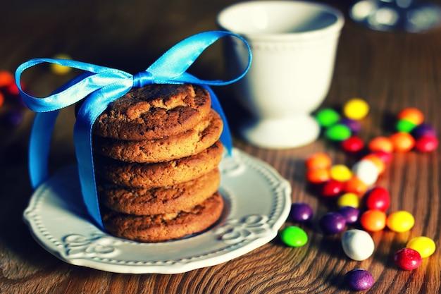 Biscotti al cioccolato caramelle a nastro