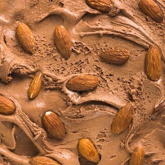 Sfondo di gelato al cioccolato