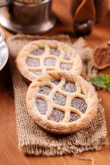 Pasticceria al cioccolato, crostata italiana fatta in casa