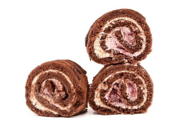 Rotolo di cioccolato con ciliegie