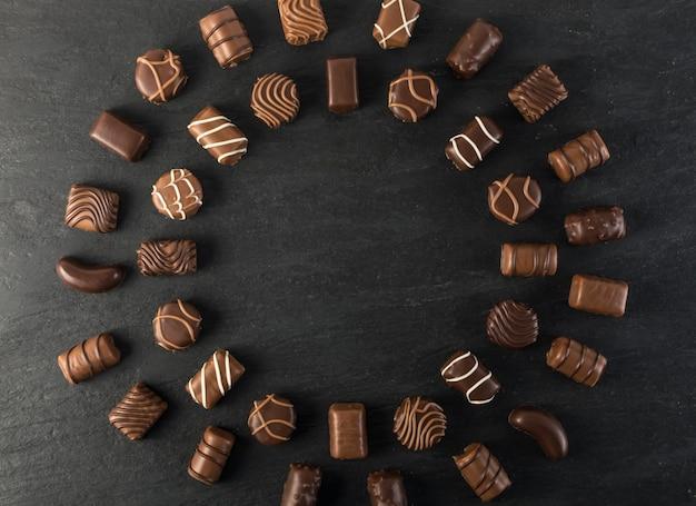 Sfondo di dolci al cioccolato