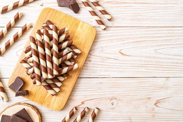 Rotolo di wafer al cioccolato