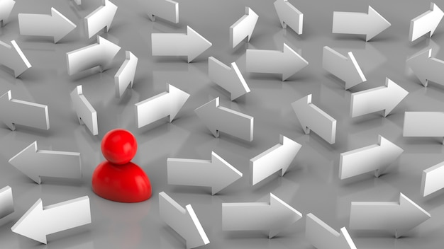 La scelta della direzione di movimento verso il bersaglio diverse direzioni sono indicate da frecce