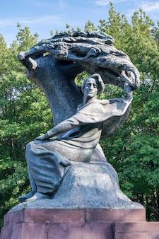 Statua di chopin a varsavia