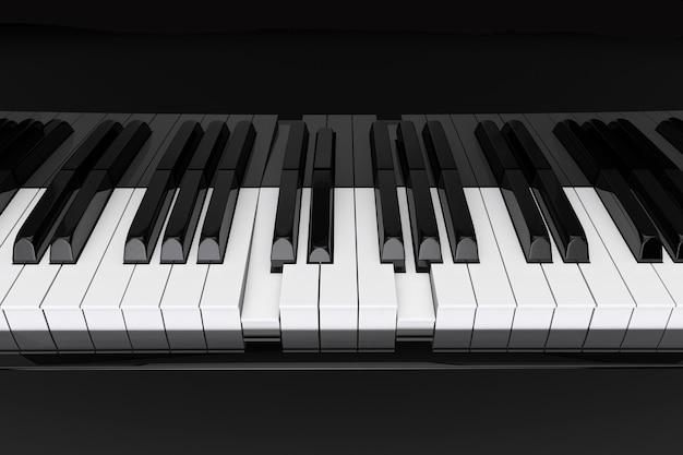 L'accordo premuto sui tasti del pianoforte in primo piano estremo