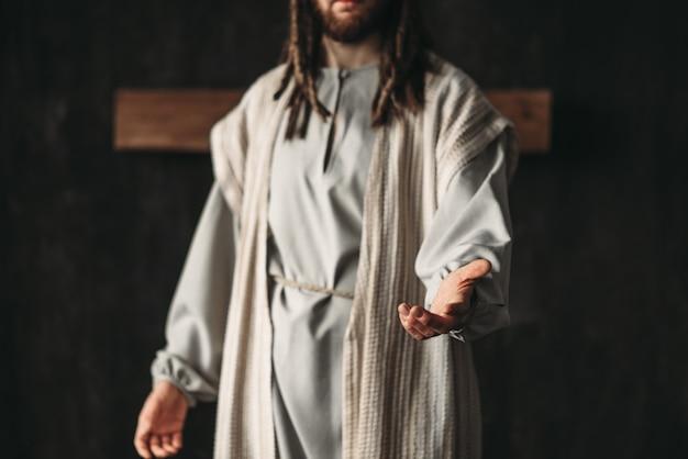 Cristo allungando la mano