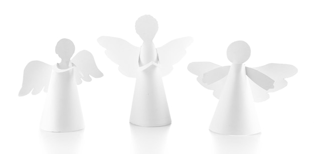 Angeli di natale isolati su bianco