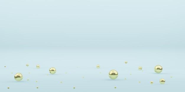 Illustrazione 3d della sfera della decorazione del nuovo anno delle palline di natale