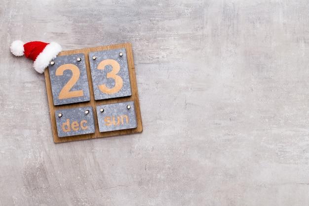 Sfondo del calendario di natale