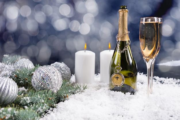 Celebrazione dello champagne di natale
