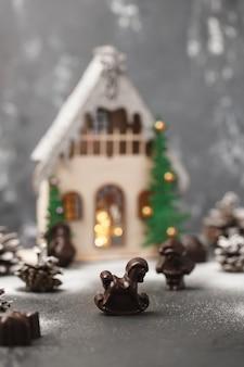 Cioccolatini di natale figurine di cioccolato