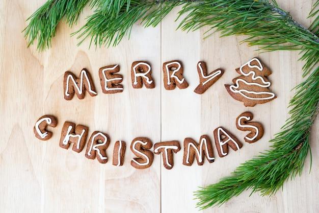 Biscotti di natale felice anno nuovo