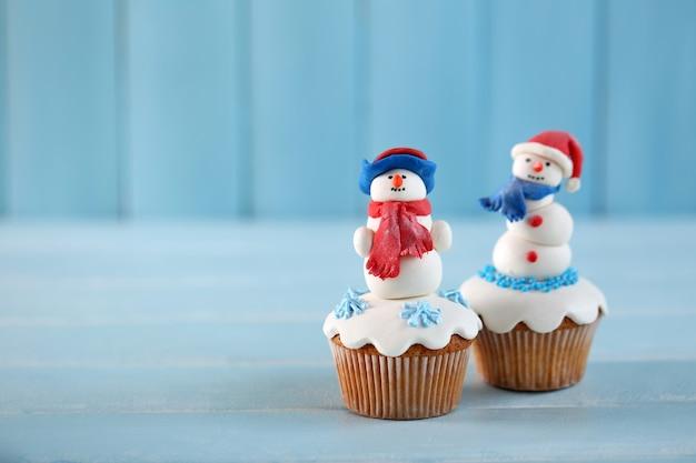 Cupcakes di natale, primo piano
