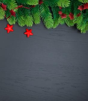 Decorazioni natalizie su superficie scura