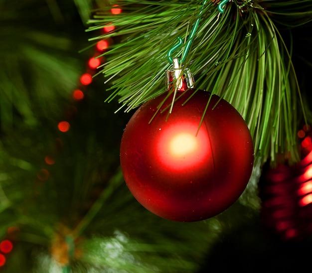 Decorazione natalizia. studio girato. avvicinamento