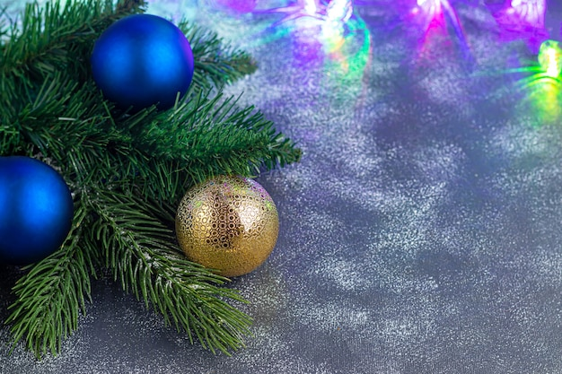 Decorazioni natalizie da vicino