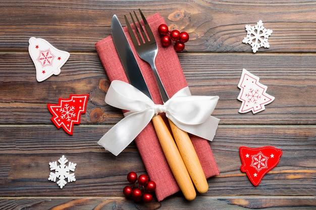 Decorazioni natalizie. felice anno nuovo concetto