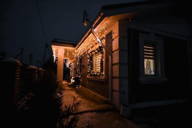 Addobbi natalizi in una casa privata, ferie