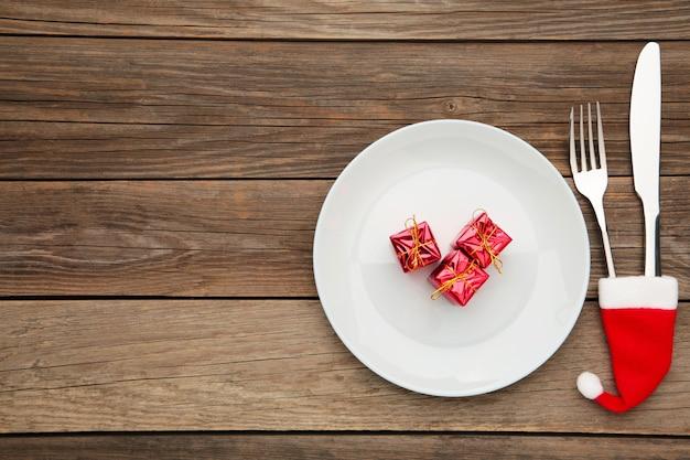 Sfondo cena di natale