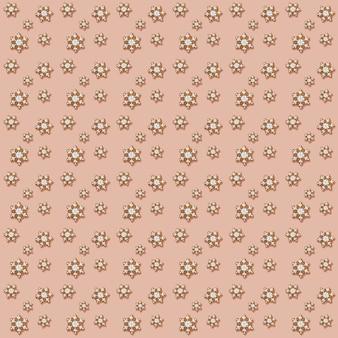 Reticolo senza giunte festivo di natale dei fiocchi di neve dei pan di zenzero su fondo rosa delicato. design creativo per nevicate commestibili. decorazioni natalizie per le vacanze. foto quadrata. vista dall'alto.
