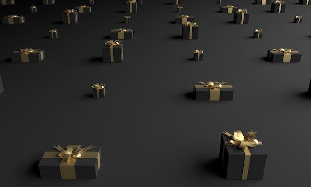 Fase del prodotto a tema verde natalizio con albero e stelle per promo o banner illustrazione 3d foto premium