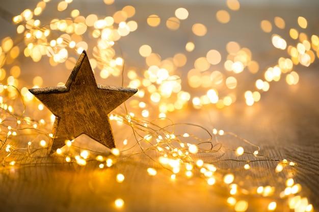 Biglietto di auguri di natale. decorazione festiva. anno nuovo concetto. lay piatto. vista dall'alto.