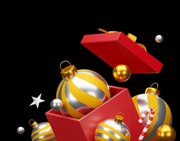 Natale e felice anno nuovo in sfondo nero. tracciato di ritaglio.
