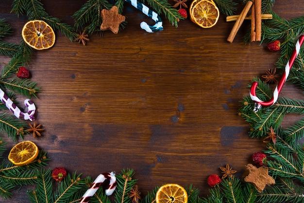 Fondo di legno di festa di natale