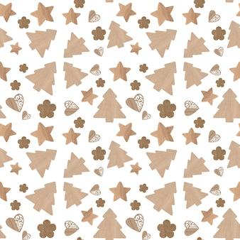 Icone di natale seamless pattern sfondo bianco
