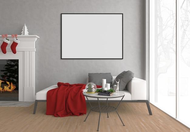 Salotto di natale - arte sfondo - cornice orizzontale