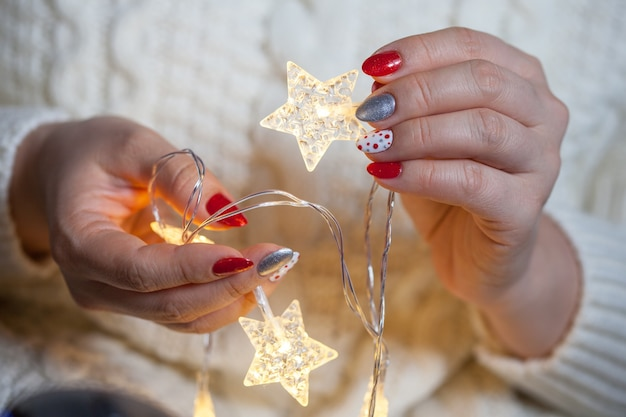 Natale nail art manicure