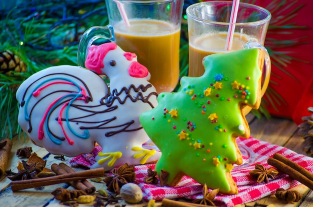 Pan di zenzero e cacao festivo di natale e capodanno