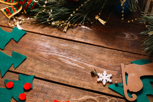 Decorazioni per le vacanze di natale e capodanno.