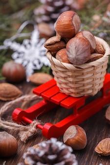 Decorazione di festa di natale e capodanno