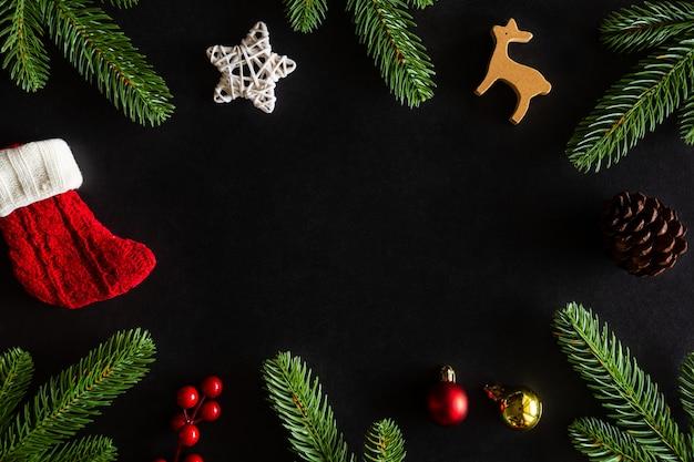 Tema della casa decorato fondo di feste di natale e capodanno.