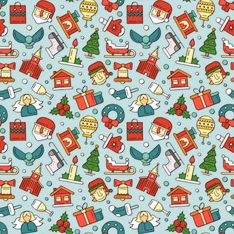 Illustrazioni di natale e capodanno per le feste regali