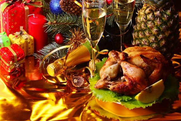 Impostazione della festa di natale e capodanno