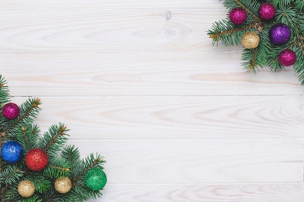 Modello di ornamenti natalizi