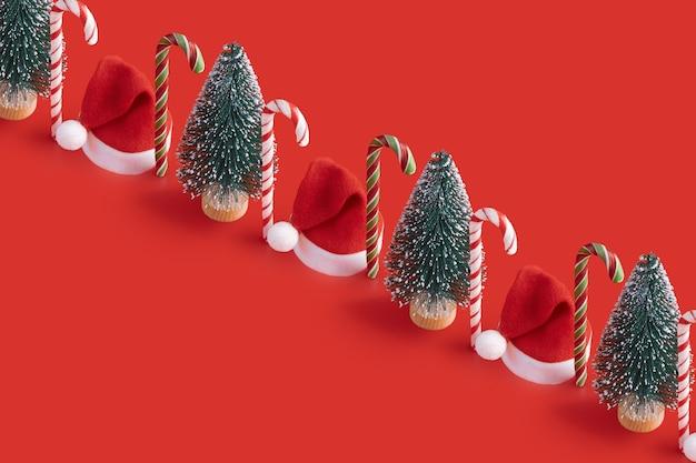 Motivo natalizio con lecca lecca di canna