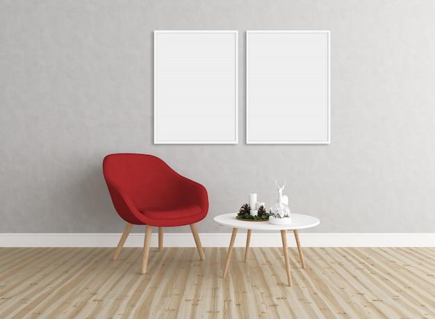 Stanza di natale - doppie cornici - sfondo della galleria a muro