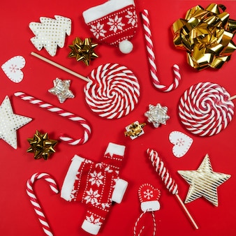 Composizione di dolci natalizi.