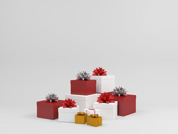 Decorazione pastello del fondo del contenitore di regalo del modello di natale
