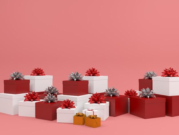 Fondo pastello del contenitore di regalo del modello di natale