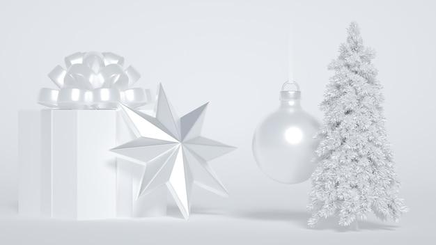 Albero di natale con regali e decorazioni