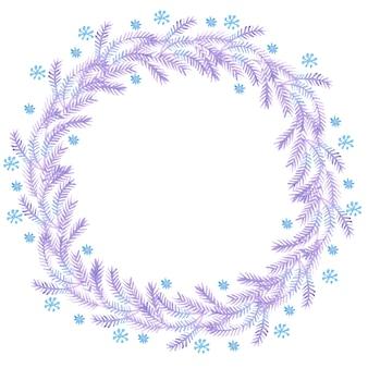 Ghirlande dell'acquerello di natale per la decorazione
